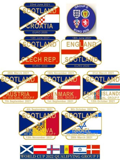 FULL SET EURO 2020 & WC22 Qualifiers Badges