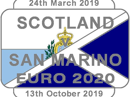 San Marino Euro 2020 Qualifier Badge 2019