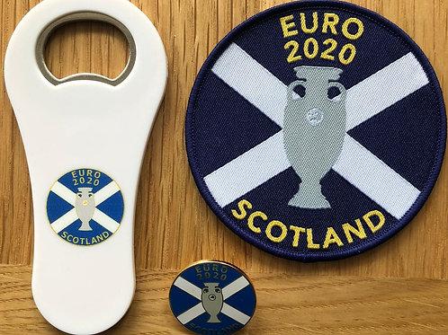 Scotland Euro 2020 Badges & Bottle Opener