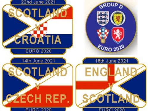 FULL SET EURO 2020 Group D