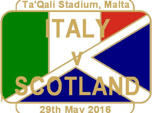 Italy Friendly Match Badge May 2016