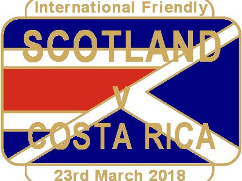 Costa Rica Friendly Match Badge  Mar 2018