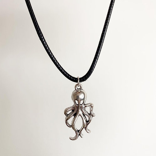Tibetan Silver Octopus Necklace (Choose Your Chain)