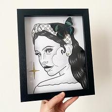 Dom Lady Face Frame