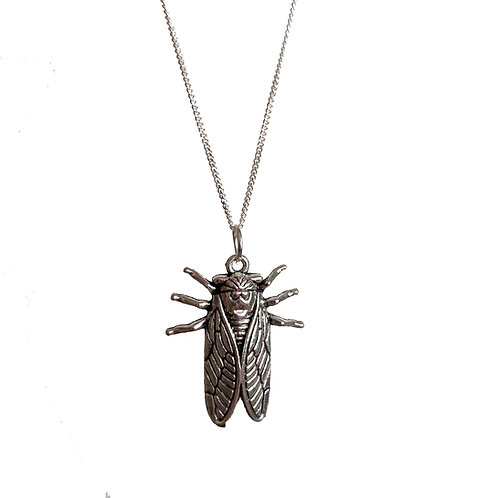 Tibetan Cicada Insect Necklace (Choose Your Chain)