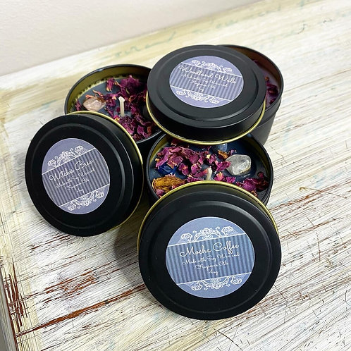 Set of 3 Handmade Soy Candles (Woodland Walk, Witches Brew & Mocha Coffe)