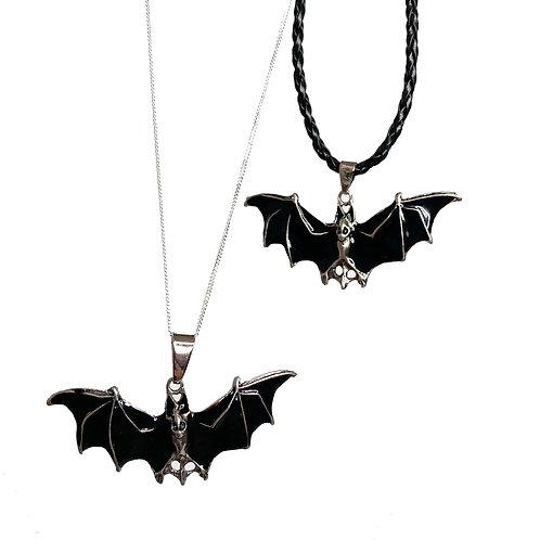 Bat Enamel Large Pendant Necklace