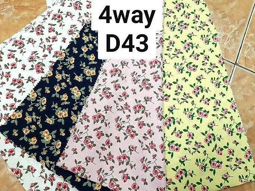 ผ้าโฟร์เวย์พิมพ์ลาย D43