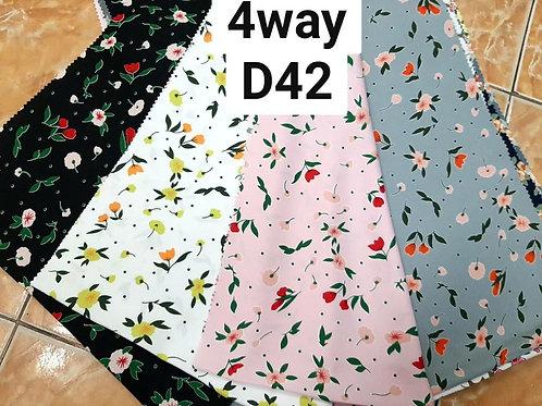 ผ้าโฟร์เวย์พิมพ์ลาย D42
