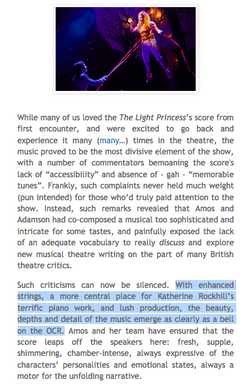 Tori Amos - Light Princess Review (Katherine Rockhill - Piano)