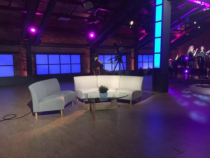 TBN UK Sacred Harmony TV Programme Studio Set-Presented by Simon Lole-Katherine Rockhill-Pianist