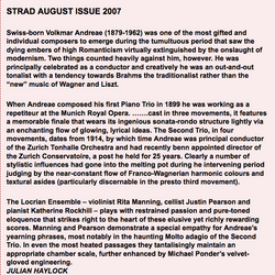 The Strad Review of Piano Trios by Volkmar Andreae The Locrian Ensemble – Rita Manning – Violin, Jus