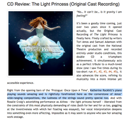 TorI Amos 'Light Princess' Review - Katherine Rockhill (Piano)