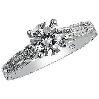 White Gold Bezel Set Engagement Ring