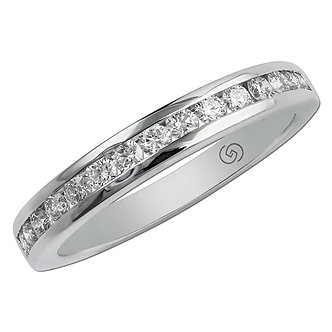 White Gold Channel Set Wedding Band