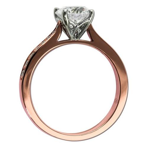14K Rose Gold Vintage Inspired Engagement Ring Hofert Jewelers