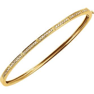 14K Yellow Gold Diamond Bangle Bracelet