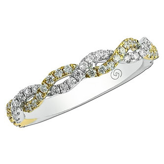 Yellow & White Gold Wedding Band