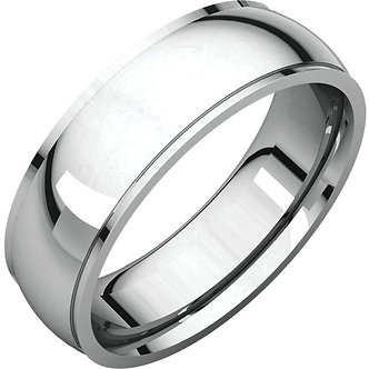 14K White Gold Comfort Fit Edge Band