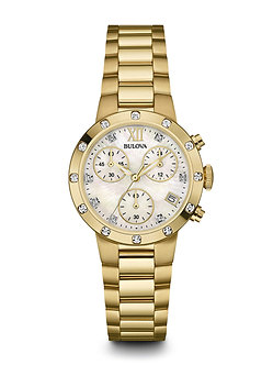 Women's Diamond Chronograph Watch