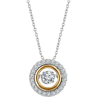 14K White & Yellow Gold Diamond Necklace