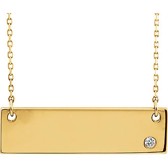 14K Yellow Gold Engravable Necklace