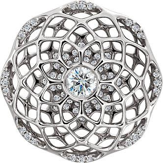 Platinum Diamond Cage Pendant