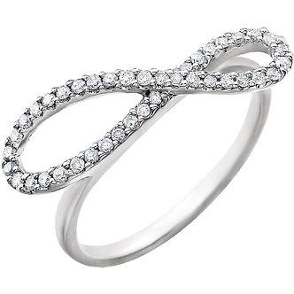 14K White Gold Infinity Ring