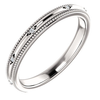 14K White Gold Accented Band