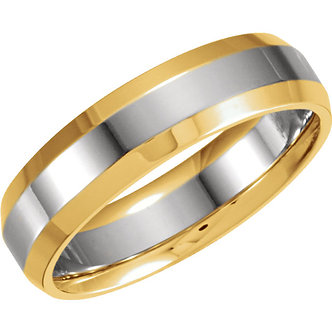 14K White & Yellow Comfort-Fit Band