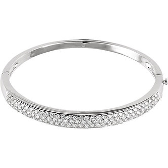 14K White Gold Diamond Pavé Bracelet