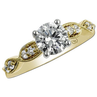 Yellow Gold Petal Engagement Ring