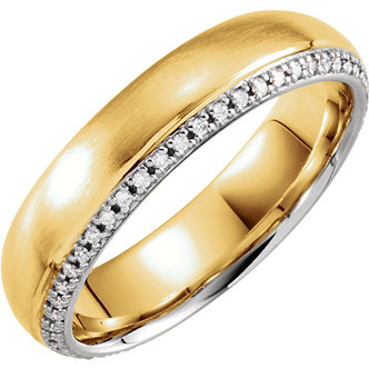 14K Yellow & White Gold Diamond Band