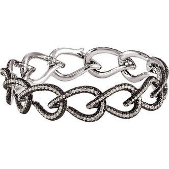14K White Gold Interlocking Bracelet