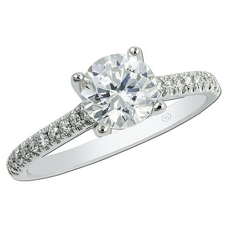 White Gold Classic Engagement Ring