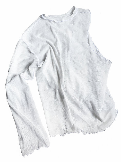 COMMON SHAPE_asymetricalmesh sleeve