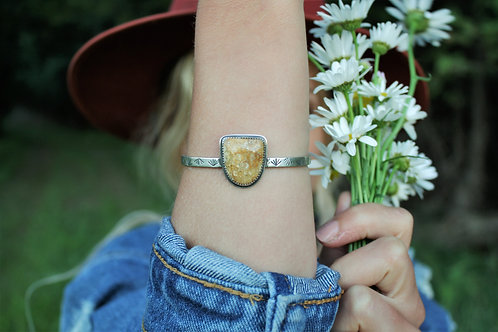 'Agatized Coral' Agave Stamped Cuff