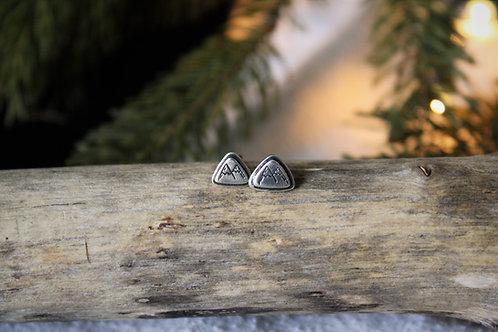 'Mountain' Triangle Stud Earrings