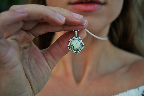 'Bursting Bud' Petite Necklace (Sonoran Gold Turquoise)