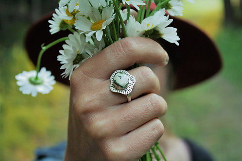 'Bursting Bud' Ring (Sonoran Gold Turquoise) - size 7