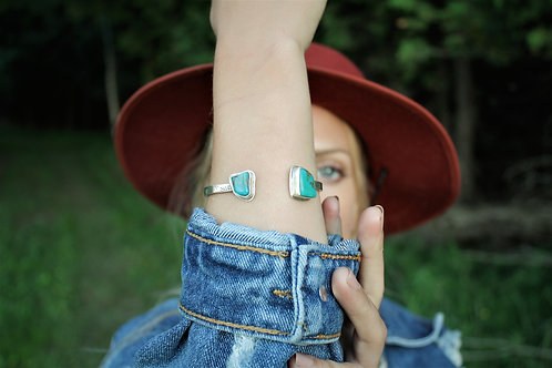 Turquoise 'Agave' Open-Top Cuff