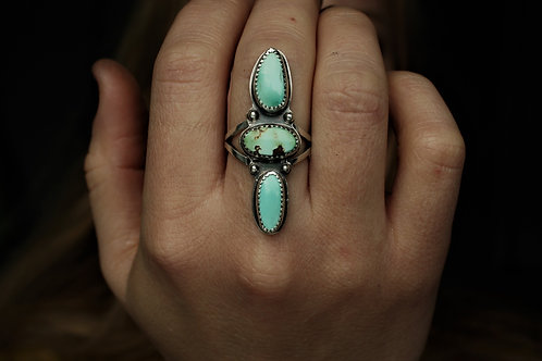 Royston Turquoise Raindrop Ring- Size 6.5