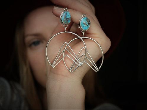 'Mountain Moonrise' Statement Earrings