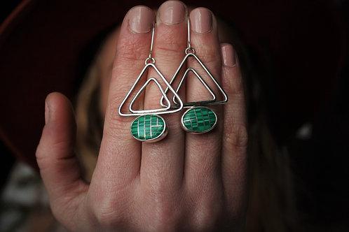 'Malachite Mountain' Earrings