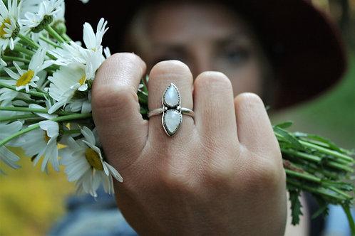 'Raindrop' Moonstone Ring- size 7