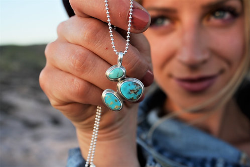 Blue 'Blossom' Necklace (American Turquoise)