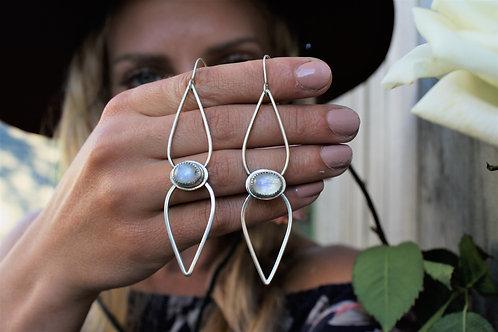 'Moonstone Wings' Earrings