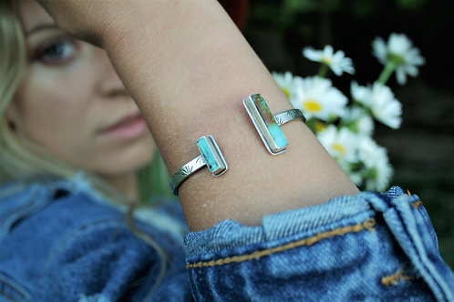 Turquoise 'Agave' Open-Top Cuff #2