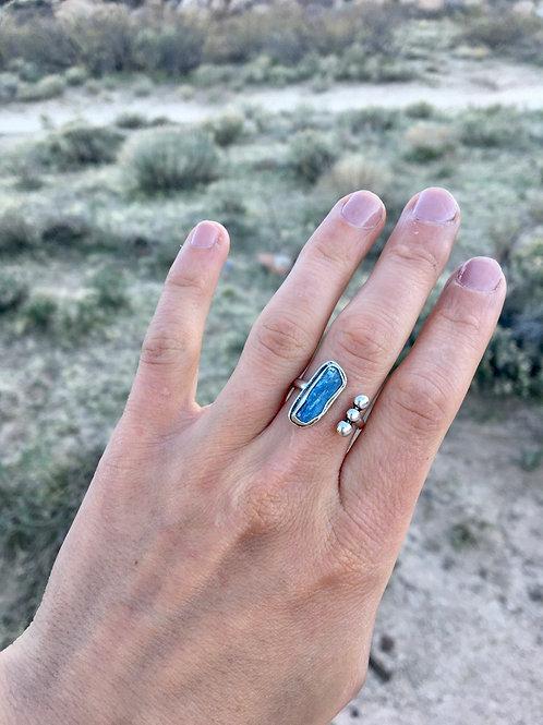 Rough Kyanite Adjustable Statement Ring: size 5.5-7.5