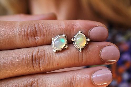 Opal 'Billy Ball' Stud Earrings